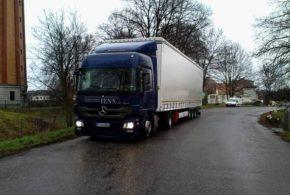 Transports bâché méga, 26 tonnes de charge utile